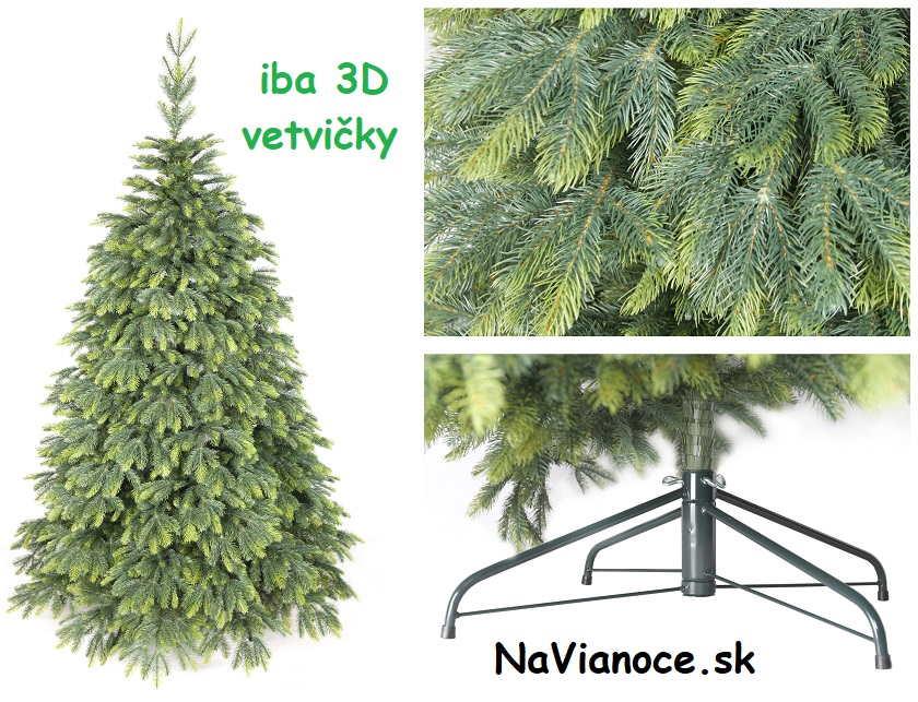 celý 3d vianočný stromček