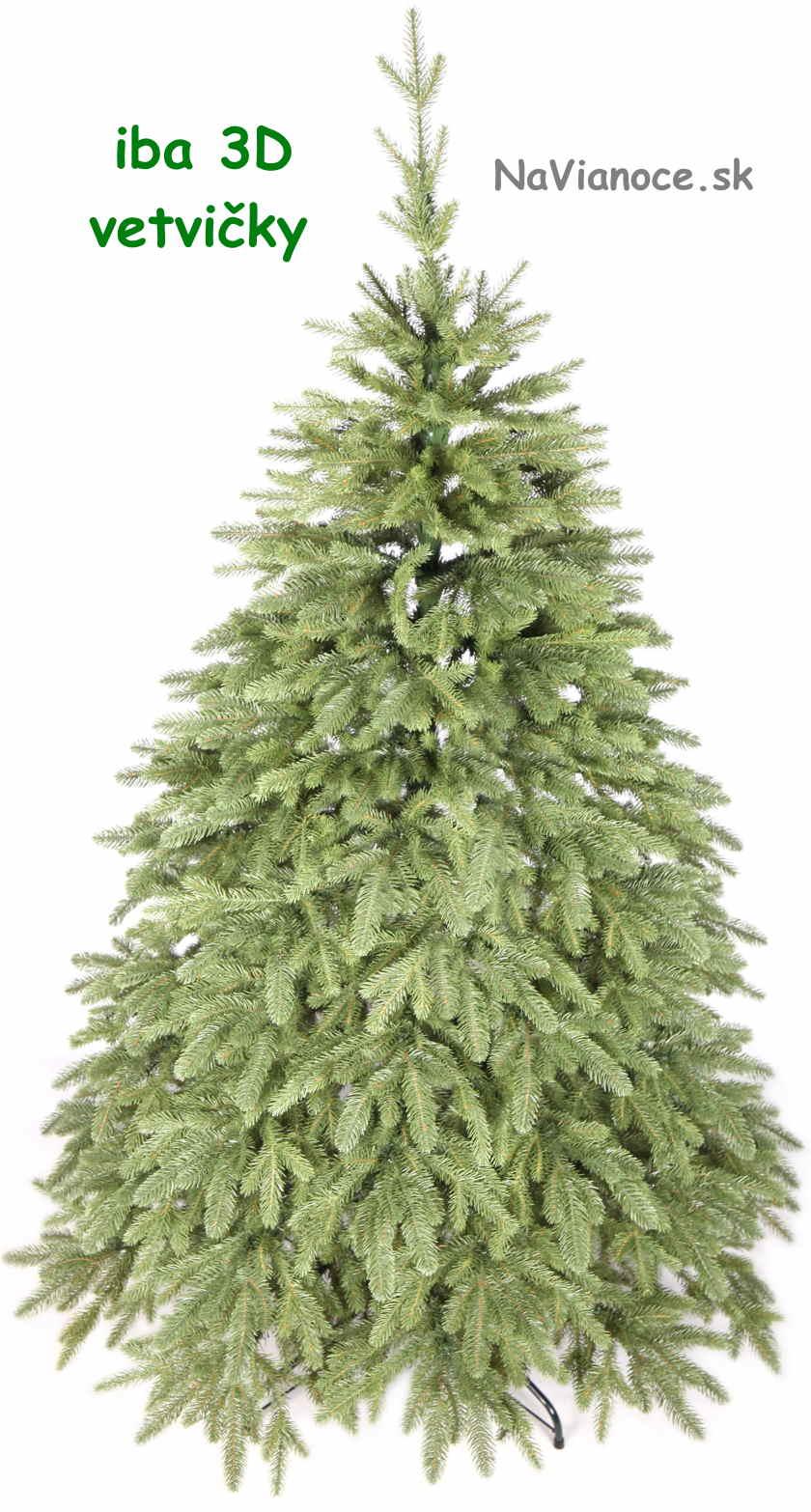 jednofarebný vianočný stromček 3d ihličie