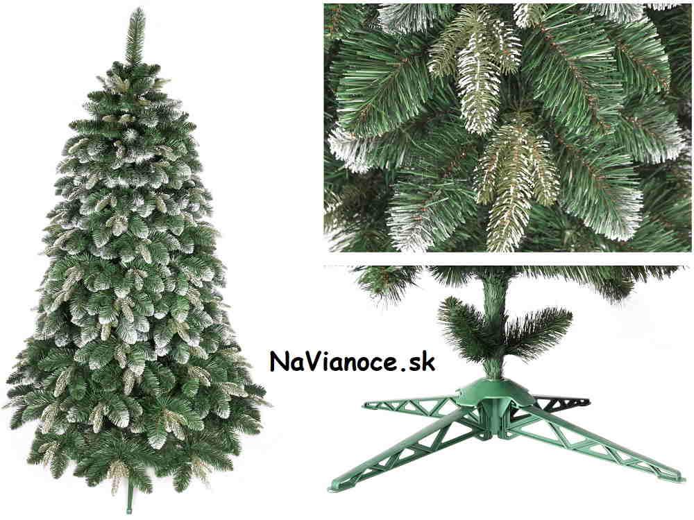 snehový umelý 3d vianočný stromček so snehom
