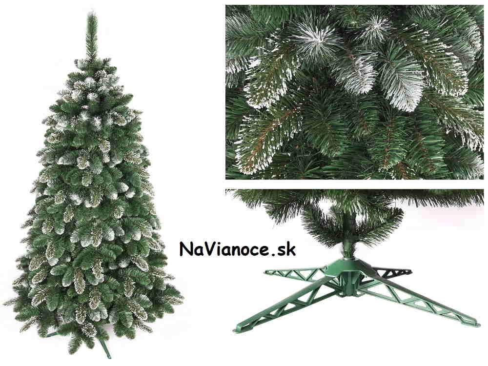 snehový vianočný stromček umelý