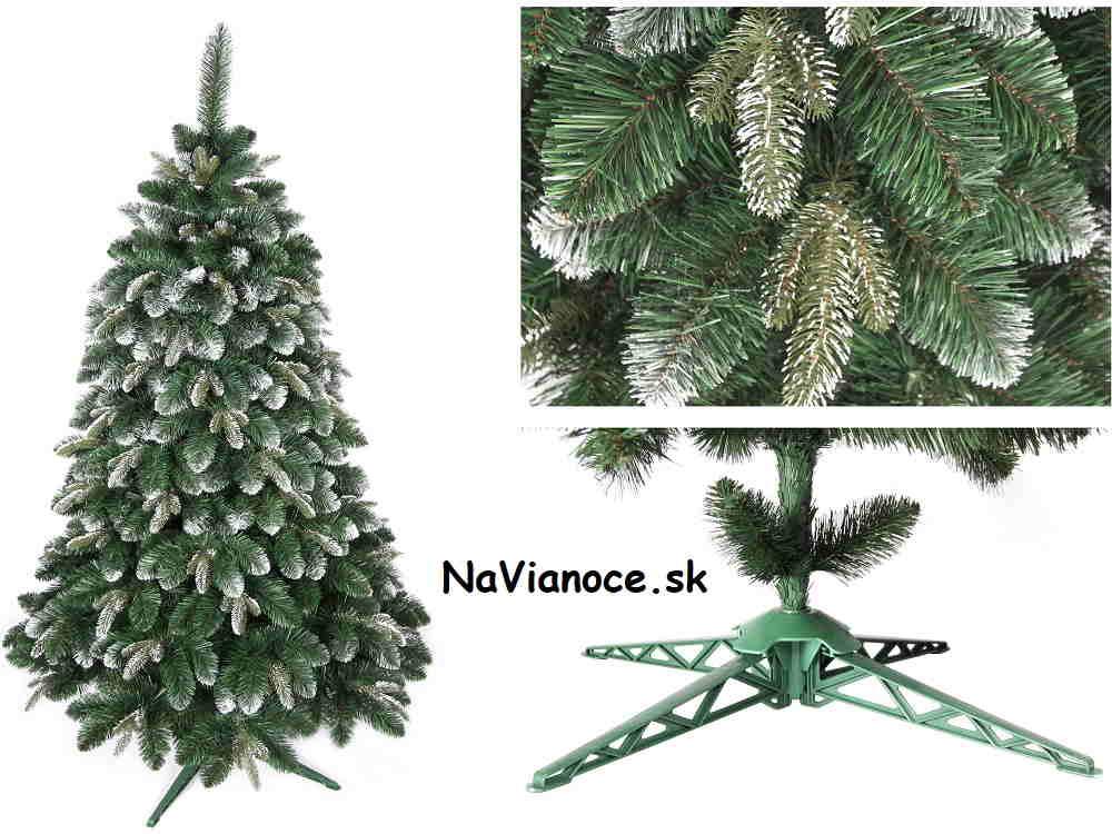 snehový vianočný stromček na Vianoce