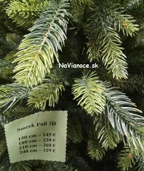cena - vianočný stromček 3d ihlicie