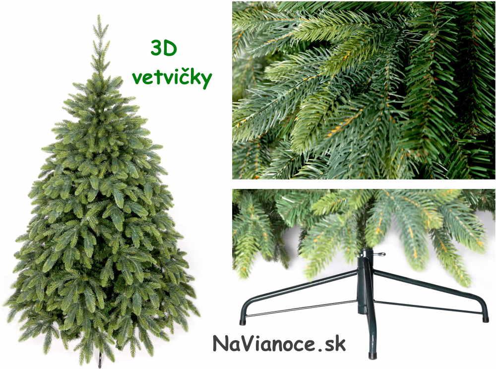 vianočný stromček 3d vetvičky