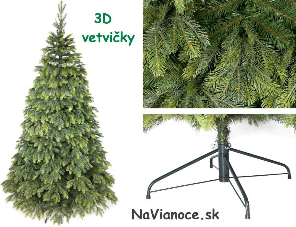 vysoký vianočný stromček jedľa 3d ihličie