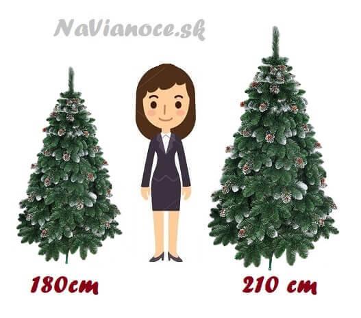 biele vianočné stromčeky výška
