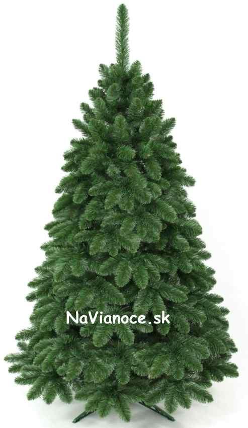 hustý reálny borovicový vianočný stromček umelý 210 cm