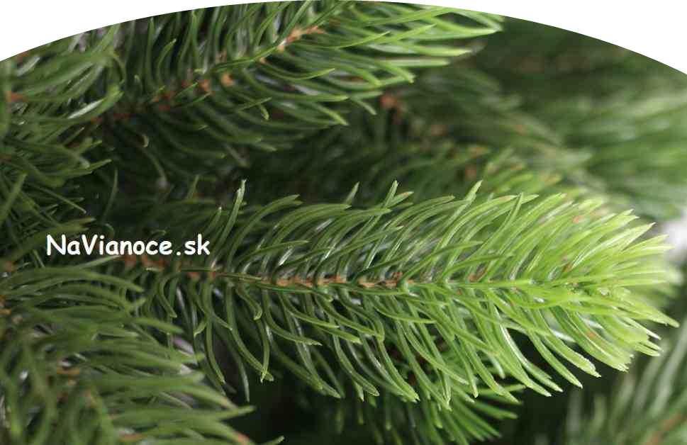 široký vianočný stromček s 3d ihličím