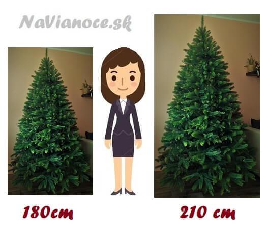 umelé vianočné stromčeky výška