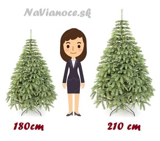 vianočné stromčeky výška