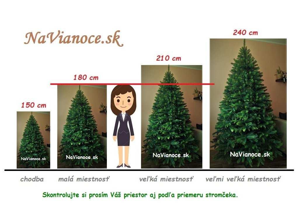 porovnanie vysokých vianočných stromčekov