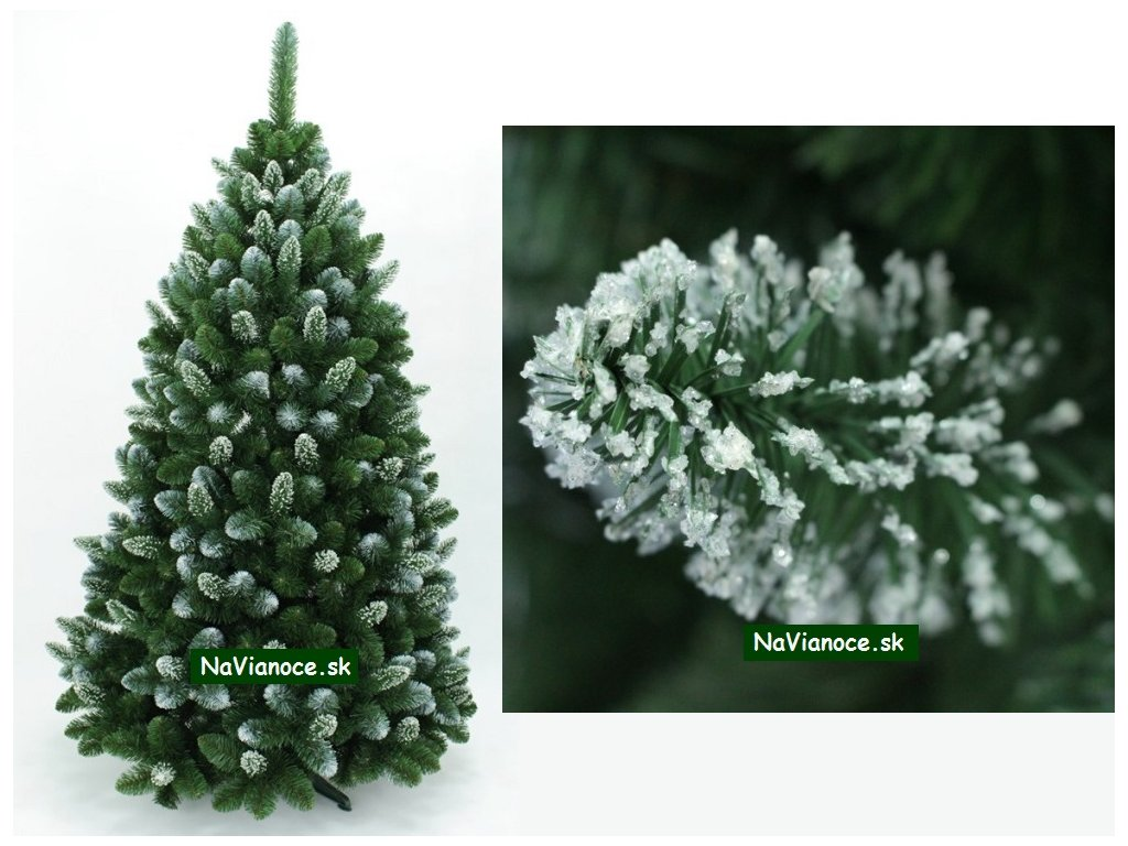 Vianočné stromčeky borovice s 3d snehom